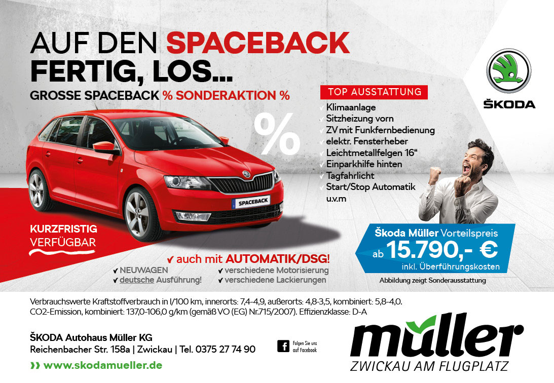 Skoda Spaceback Aktion