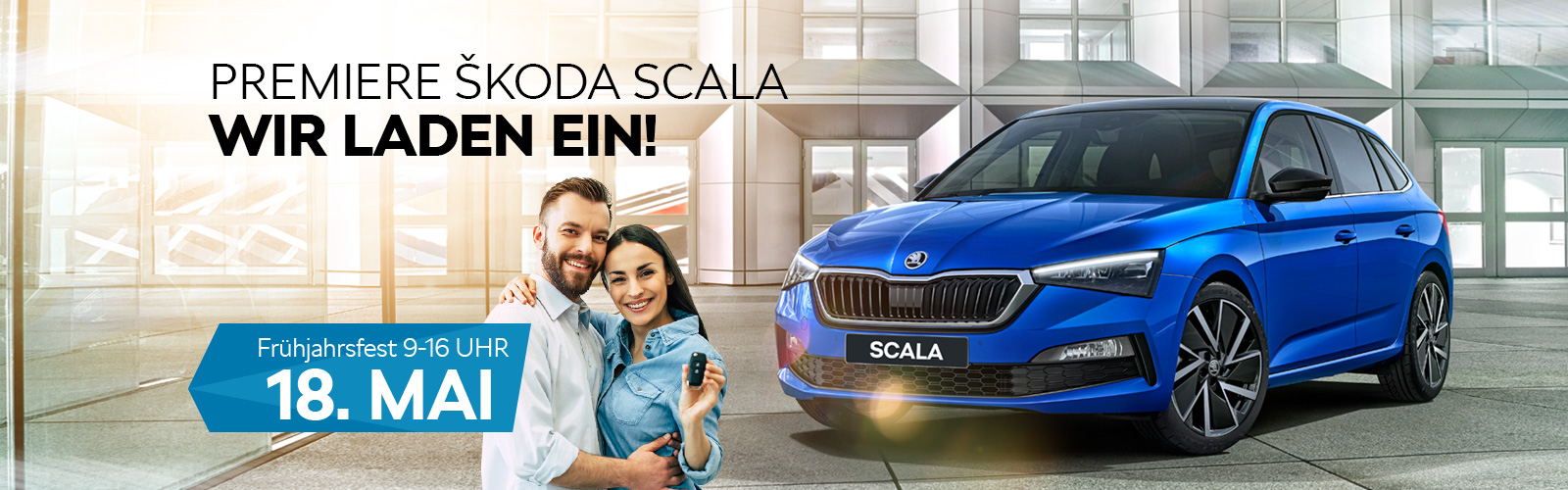 Premiere Skoda Scala - Skodamueller Background